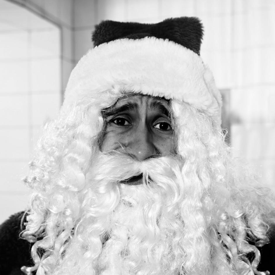 Retrato de familia con Papá Noel